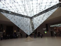Isn't this cool? There is an inverted pyramid under the Louvre!