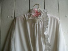 Antique French Nightdress Monogrammed MM Handmade by Vintagemaison, £49.00