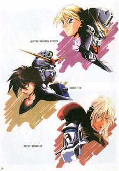 Gundam Wing: Quatre, Heero, & Merquise.