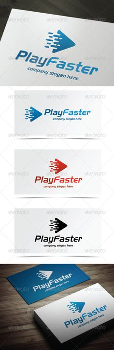 Play Faster - Logo Design Template Vector #logotype Download it here: http://graphicriver.net/item/play-faster/5444999?s_rank=1372?ref=nexion
