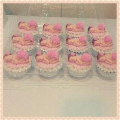 Pink baby cupcake