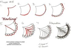 How to draw Paisley Flower 18 Harling by Quaddles-Roost on DeviantArt