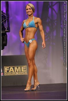 Jamie Eason in her first competition ever. 12 weeks of prep. Ugh I hope I can look half this good in my first one!