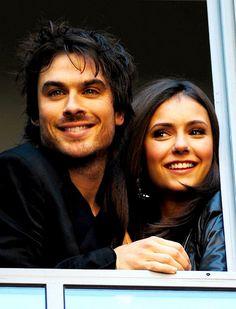 CUTEST couple Ever!!!! Damon an Elena aka Ian Somerhalder & Nina Dobrev