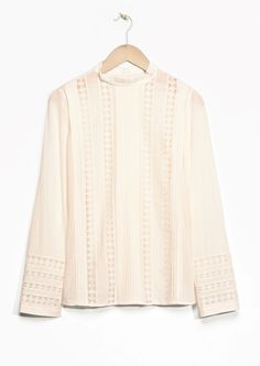 & Other Stories | Lace Panel Cotton Blouse