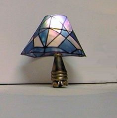 Miniature electric table lamp Tiffany by AuntElliesMiniatures