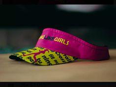 Visera deportiva para mujer en color rosado y amarillo, edicion especial #RunningLikeGirls Crossfit, Hats, Fitness, Color, Yellow, Sports, Women, Hat, Colour