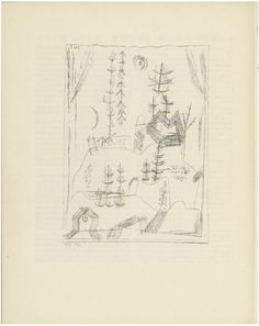 """wetreesinart: """" Paul Klee (German, born Switzerland. 1879–1940), Forest (Wald) from the periodical Münchner Blätter für Dichtung und Graphik, 1919, Lithograph from a periodical with five lithographs,..."""