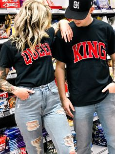 couple goals couple style relationship goals couplegoals partner style partner fashion king and Queen partner Tshirts love relationship king und queen levis wedding partn. Cute Couple Shirts, Couple Tees, Matching Couple Outfits, Matching Couples, Cute Couples, Couple Clothes, King Queen Shirts, King Shirt, T-shirt Paar