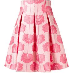 P.A.R.O.S.H. floral pleated skirt ($434) ❤ liked on Polyvore featuring skirts, jackets, pink, floral pleated skirt, floral skirt, long pleated skirt, pink skirt and embroidered skirt