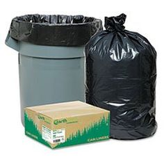 Recycled Large Trash and Yard Bags 33gal 9mil 325 x 40 Black 80Carton -- You can find out more details at the link of the image.
