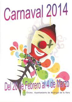 Cartel carnaval 2014 Madrigal de la Vera, Caceres, Extremadura, España, Carnival Spain