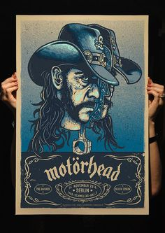 MOTORHEAD Gigposter for 2014 Berlin Show, Variant 1: 4 Color Silkscreen by Lars P. Krause, signed and numbered. www.douze.de