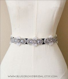 Crystal Sash Wedding Sash Bridal Sash by BlueOrchidBridal on Etsy