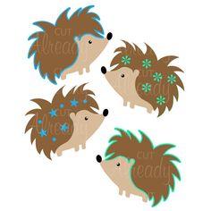 Hedgehog - SVG cut file - PNG, DXF - For Silhouette, Cricut, Card making, Scrapbooking -Instant Digital Download