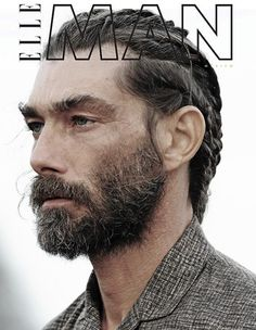 The face of BVLGARI Man Extreme, model Patrick Petitjean returns to the forefront with the June 2015 cover of Elle Man Mexico. The model veteran links up with… Bvlgari Man Extreme, Hair And Beard Styles, Long Hair Styles, Top Male Models, Elle Mexico, Viking Hair, Male Fashion Trends, La Mode Masculine, Img Models