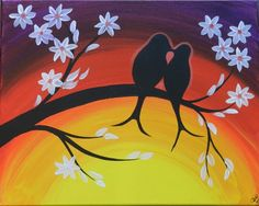 easy spring canvas painting - Google Search
