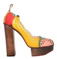 Charlotte Olympia banana shoes ^_^