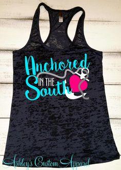 Southern Tank Top, Southern Shirts, Womens Workout Tank, Southern Fitness Tank, Southern Sayings, Sayings, Southern Girls, Custom Burnout  by AshleysCustomApparel