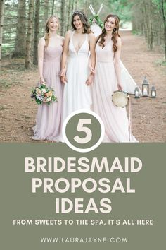 """How are you going to ask """"Will You Be My Bridesmaid?"""" Come on over to Laura Jayne's Blog for 5 Creative Bridesmaid Proposal Ideas that are sure to leave you inspired when it's your time to ask your girlfriends to be a part of your wedding day. www.laurajayne.com"""