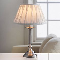 Hassle free way to compare the features and price of multiple options in large table lamp and choose the best one to decorate your home without putting pressure on your pocket. Cheap Table Lamps, Silver Table Lamps, Touch Table Lamps, Large Table Lamps, Luxury Lighting, Home Lighting, Living Room Lighting, Lamp Light, Night Light