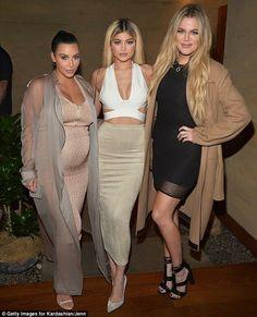 Kim Kardashian, Kylie Jenner and Khloe Kardashian.