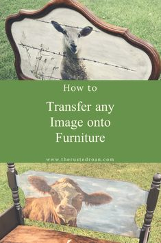 furniture muebles Image transfer tutorial using any image. Transfer your image or photo onto a piece of furniture or project. How to do an Image Transfer. Furniture Repair, Paint Furniture, Furniture Projects, Furniture Making, Furniture Makeover, Cool Furniture, Decoupage Furniture, Office Furniture, Sanding Furniture