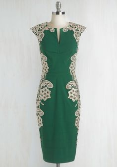 Lakeside Libations Sheath Dress in Evergreen, @ModCloth