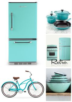Cool Turquoise beach cruiser style bike. Big Chill take inspiration from vibrant colors everywhere. 200 custom colors to choose from in their retro range. Find yours today. #BigChill #Vintage