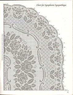 Овальная скатерть Симпатическая симфония крючок схема 2