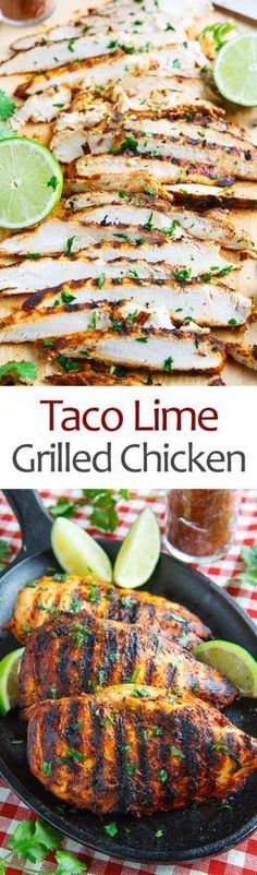 A quick and easy taco lime grilled chicken that's just packed with flavour! A quick and easy taco lime grilled chicken that's just packed with flavour! Cooking Recipes, Healthy Recipes, Advocare Recipes, Bbq Recipes Gluten Free, Sausage Recipes, Easy Grill Recipes, Taco Bar Recipes, Healthy Grilled Chicken Recipes, Fat Free Recipes