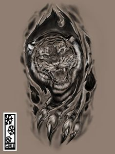 by tylerrthemesmer tattoos tiger tattoo, tiger tat Head Tattoos, Wolf Tattoos, Animal Tattoos, Body Art Tattoos, Tiger Sketch, Tiger Drawing, Tiger Art, Japanese Tiger Tattoo, Japanese Tattoo Designs