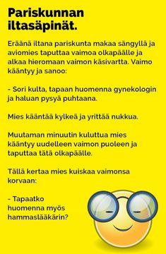 Vitsit: Pariskunnan iltasäpinät - Kohokohta.com Arduino, Texts, Jokes, Humor, Comics, Funny, Egg As Food, Husky Jokes, Humour