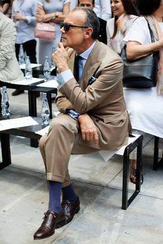 Men's tan gabardine suit