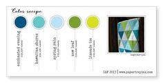 Enchanted Evening, Hawaiian Shores, Spring Rain, New Leaf, Limeade Ice (Color-Recipe-3, SAF 2013)