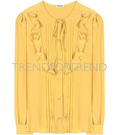 TrendForTrend is a service platform for professionals in the fashion and design industry offering a vast library of images and contents. Contents, Miu Miu, Fall Winter, Tunic Tops, Yellow, Create, Clothes, Design, Women