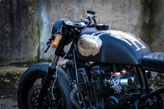 Honda CB 750 custom painted by Maxwell Paternoster, AKA Corpses from Hell.