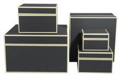 Set of 5 gift boxes black +++ STORAGE BOXES £49.90 +++ Quality made by Semikolon Semikolon http://www.amazon.co.uk/dp/B005OYSKUY/ref=cm_sw_r_pi_dp_sB8jvb14237EX