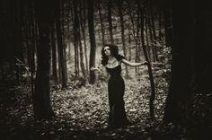 tattoos women forest gothic monochrome black dress 1280x852 wallpaper