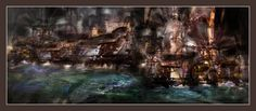 """""""A Steampunk City Never Sleeps"""" by Taisteng."""