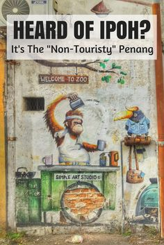 Ipoh is two hours north of Kuala Lumpur. Malaysians flock to this city but internationals haven't, yet. Give it a chance, the food and street art are world class, if not better than Penang. The culture is real.