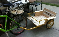 Bike Cargo Trailers - Part 2 Bike Cargo Trailer, Cargo Trailers, Cargo Bike, Bike Cart, Custom Trailers, Trailer Build, Building For Kids, Bike Style, Go Kart