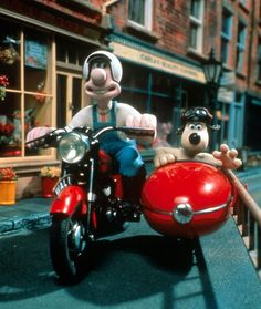 Wallace and Gromit in A Close Shave Wallace And Gromit Characters, Ice Age Movies, Clay Animation, Powered Bicycle, Side Car, Shaun The Sheep, The Jetsons, Found Object Art, Kung Fu Panda
