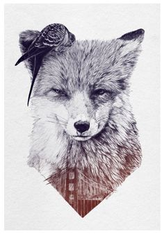 Fox wants to go to San Francisco - A4 - Print - Limited edition. €30.00, via Etsy.