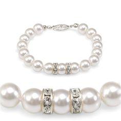 'Olive n Figs' Crystal Pearl Bracelet with Rondelle - MADE WITH SWAROVSKI ELEMENTS - White (8mm) Nvie Designs, http://www.amazon.com/dp/B000Y8SRBC/ref=cm_sw_r_pi_dp_mj6Uqb1F3YZ2T