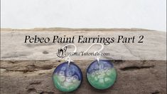 Polymer Clay Pebeo Paint Earrings Part 2