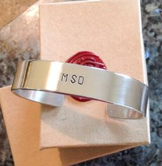 Stamped Metal Bracelet  Custom Hand Stamped by BlueCornerCreasigns