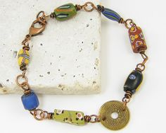 Coin Bracelet Colorful Bracelet African Trade by CharleneSevier