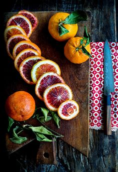 Blood oranges have a relatively short window.  So, when they made their annual appearance, I immediately snatched up a basketful.  Blood oranges look unassuming enough from the outside. Thei…