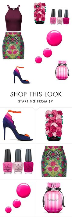 """""""#sopink"""" by julanda-1 ❤ liked on Polyvore featuring Pierre Hardy, Kate Spade, OPI, Gucci, Topshop and Victoria's Secret"""